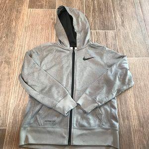 Boys Medium Nike Gray Hoodie